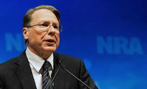Wayne LaPierre, NRA spokesperson who argues for making schools armed camps.