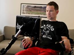 Steve Gleason, football player with ALS.